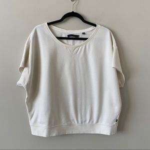 William Rast -Cropped Muscle Raw Hem Pullover